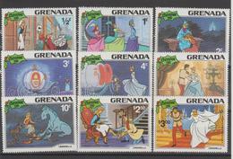 Disney Grenade Grenada 1981 Série 989-97 9 Val ** MNH - Disney