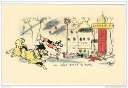 """CPA Illustrée Chats - """" Un Chat Prend Le Métro """" - Non Circulée - Katten"""