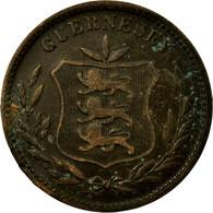 Monnaie, Guernsey, 8 Doubles, 1902, Heaton, Birmingham, TB, Bronze, KM:7 - Guernesey