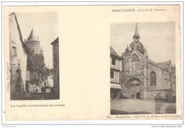 CPA Josselin - La Ruelle Conduisant Au Canal Et L'Eglise Notre Dame Du Roncier  - Non Circulée - Josselin