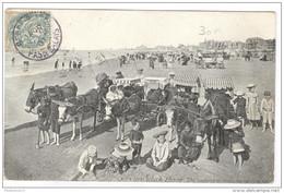 CPA Berck Plage - Les Voitures De Malades Sur La Plage - Circulée En 1907 - Berck