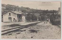 23 Croze La Gare Et Locomotive Animée 1915 éditeur Trampon 901 Habitants En 1908 Dos Scanné - France