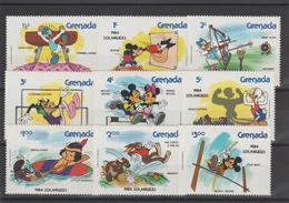 Disney Grenade Grenada 1984 Série 1111-119 9 Val ** MNH - Disney