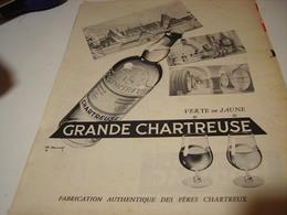 ANCIENNE PUBLICITE GRANDE CHARTREUSE VERTE OU JAUNE  1959 - Alcools