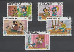Disney Grenade Grenada 1985 Série 1272-276 5 Val ** MNH - Disney