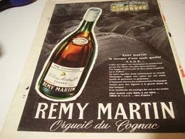 ANCIENNE PUBLICITE FINE CHAMPAGNE COGNAC REMY MARTIN 1959 - Alcools