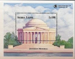 Sierra Leone  1989 Jefferson Memorial, Washington S/S - Sierra Leone (1961-...)