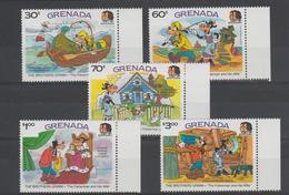 Disney Grenade Grenada 1985 Série 1281-285 5 Val ** MNH - Disney