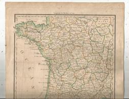 Carte Géographique , 36 X 26.5 , Partie Occidentale De L'EMPIRE FRANCAIS , 1812, Gravé Par Chamouin,   Frais Fr 2.25 E - Geographical Maps