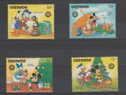 Disney Grenade Grenada 1986 Série 1357-360 4 Val ** MNH - Disney