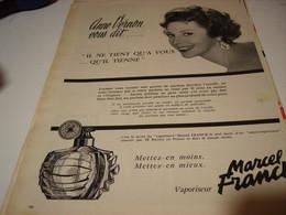 ANCIENNE PUBLICITE ANNE VERNON VOUS DIT UN PARFUM  MARCEL FRANCK 1959 - Other