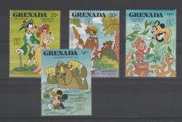 Disney Grenade Grenada 1987 Série 1521-524 4 Val ** MNH - Disney