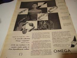 ANCIENNE PUBLICITE COLLECTION SYLPHIDE MONTRE OMEGA 1959 - Autres