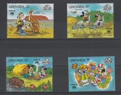 Disney Grenade Grenada 1988 Série 1591-594 4 Val ** MNH - Disney