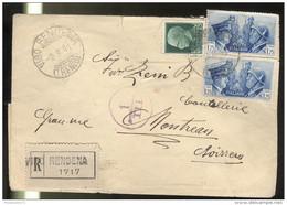 Marcophilie - Lettre Italie Pour La Suisse 1941 - Censurée Par L'Italie - 1900-44 Victor Emmanuel III