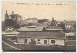CPA Montbéliard - Vue Générale - Gare - Château - Non Circulée - Montbéliard