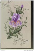 """CPA Carte """"Amitié Sincère"""" Sur Rhodoïd - Circulée 1912 - Other"""