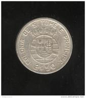 2,5 Escudos 1939 Sao Tomé Et Principe Colonie Portugaise - Portugal