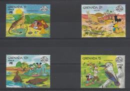 Disney Grenade Grenada 1988 Série 1605-608 4 Val ** MNH - Disney