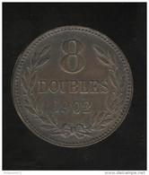 8 Doubles Guernesey 1902 TTB+ - Guernesey