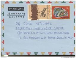 Marcophilie - Lettre Ghana Vers La Suisse - 1978 - Ghana (1957-...)