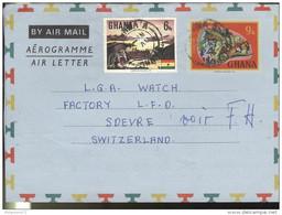 Marcophilie - Lettre Ghana Vers La Suisse - 1976 - Ghana (1957-...)