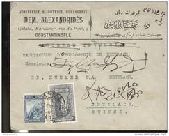 Marcophilie - Lettre Turquie Vers La Suisse - Constantinople 1927 - 1921-... République