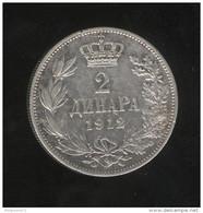 2 Dinars Serbie 1912 - Milan 1er - TTB - Serbia