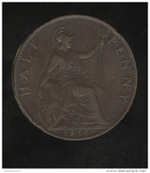 Half Penny Grande Bretagne / United Kingdom 1899 Victoria - TTB - 1816-1901 : Frappes XIX° S.