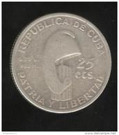 25 Centimes Cuba 1953 TB+ - Cuba