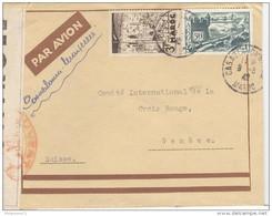 Marcophilie - Lettre Du Maroc Vers La Suisse Via Marseille 1942 - Censurée - Africa (Other)