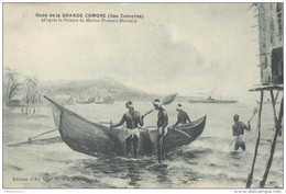 CPA Rade De La Grande Comore (Iles Comores) D'après Marine Dumont Duparc - Circulée En 1916 - Comores