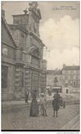 CPA Pont De Vaux - La Gare Et La Place Joubert - Circulée En 1918 - Pont-de-Vaux