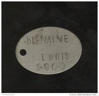 Plaque D'identification De Soldat - Centre Mobilisateur De La Seine 6ème Bureau - Classe 1900 - Equipement
