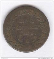5 Centimes France Dupré - 1796 A - C. 5 Centimes