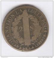 2 Sols France - Louis XVI 1791 - 987-1789 Monnaies Royales