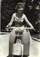 "Motorbike - Yugoslav Vespa - ,,GALEB"" And Girl - Motorbikes"