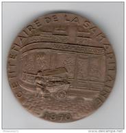 Médaille Centenaire De La Samaritaine - 1870 1970 -  68 Mm - Professionnels / De Société