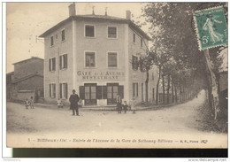 CPA Rillieux - Entrée De L'avenue De La Gare De Sathonay Rillieux - Circulée 1916 - France