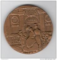 Médaille Centenaire De La Société Générale - 1864 1964 -  68 Mm - Graveur Revol - Professionals / Firms