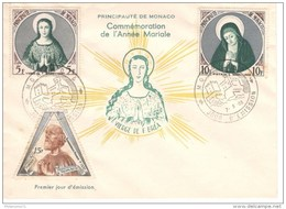 FDC Commémoration De L'Année Mariale - 7 Juin 1955 - Très Bon état - Voir Photos - FDC