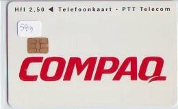 NEDERLAND CHIP TELEFOONKAART CRD 593 * COMPAQ * Telecarte A PUCE PAYS-BAS ONGEBRUIKT MINT - Nederland