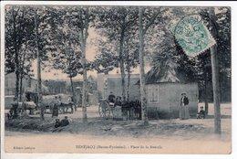 Cpa Carte Postale Ancienne  - Benejacq Place De La Bascule - Sonstige Gemeinden