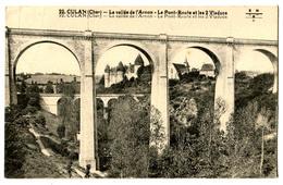 CPA 18 CULAN Les Deux Viaducs (problème D' Impression) - Culan