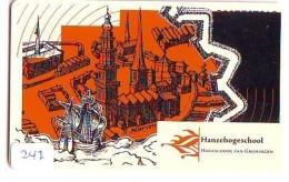 NEDERLAND CHIP TELEFOONKAART CRD-247 * HANZEHOGESCHOOL GRONINGEN *  Telecarte A PUCE PAYS-BAS ONGEBRUIKT  MINT - Nederland