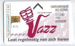 NEDERLAND CHIP TELEFOONKAART CRD-103 * Haarlemmermeer Jazz Festival * Telecarte A PUCE PAYS-BAS * NL ONGEBRUIKT * MINT - Nederland