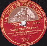 78 Trs - 30 Cm - Etat B - VALSE TRISTE - SERENADE - Orchestre Symphonique De Chicago - 78 T - Disques Pour Gramophone
