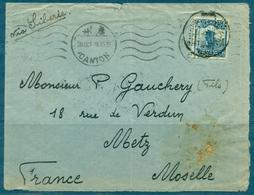 CHINE N° 19 Sur Lettre De CANTON 28 Oct 1929 Pour METZ (FRANCE) Mention : VIA SIBERIE . - 1912-1949 République