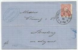 H735 - STRASSBURG I.ELS C - 1875 - Tarif 10 Pfennige Pour STRASBOURG  - - Marcophilie (Lettres)