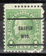 USA Precancel Vorausentwertung Preo, Bureau Wyoming, Casper 632-61 - Etats-Unis